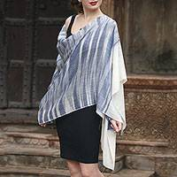 Cashmere shawl, 'Sky Enthrall' - Artisan Crafted 100% Pashmina Wool Shawl from India