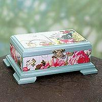 Beaded decoupage box,