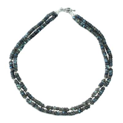 Sterling Silver Labradorite Necklace Handmade in India