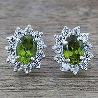 Peridot stud earrings,
