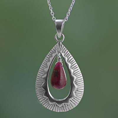 Ruby pendant necklace, Ruby Grandeur
