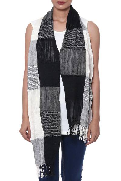 Wool blend scarf, Naturally Sophisticated