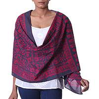Cotton batik shawl,