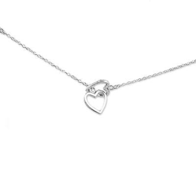 Hand Made Sterling Silver Charm Necklace Hearts from India