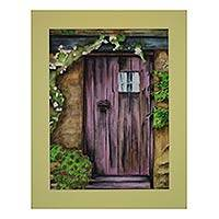 'An Invite' - Original Watercolor Painting of a Door from India