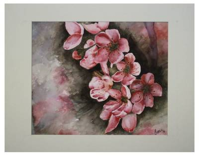 'Floral Delight' - Original Signed Watercolor Work of Art Flowers Blooming