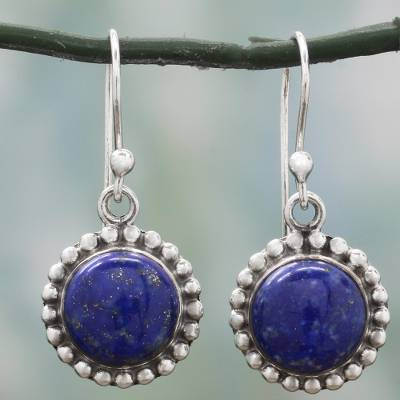 Lapis lazuli dangle earrings, Deep Blue Majesty