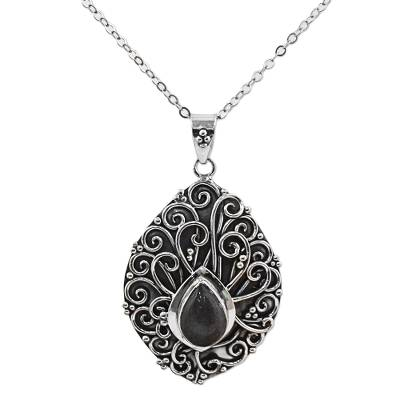 Labradorite Sterling Silver Pendant Necklace India