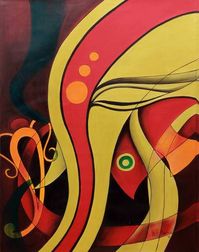 'Golden Serenity' - Abstract Profile Portrait of Hindu Deity Lord Ganesha