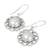 Cultured mabe pearl dangle earrings, 'Indian Blossoms' - Sterling Silver Cultured Pearl Dangle Earrings from India (image 2e) thumbail