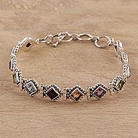 Multi-gemstone tennis bracelet,