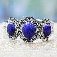 Lapis lazuli cuff bracelet,
