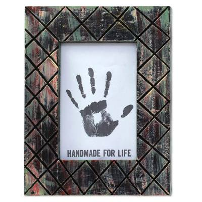 Wood Photo Frame Black Distressed (5x7) from India