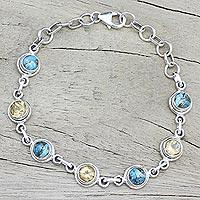 Citrine link bracelet,