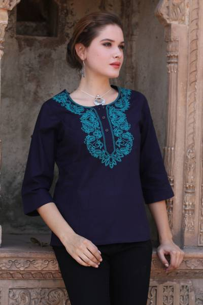 Cotton tunic, Indigo Magnificence