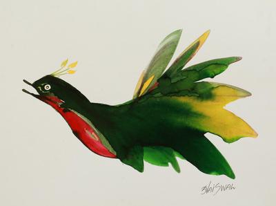 Original Signed Bird Painting by an Indian Artist