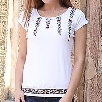 Cotton blend Madhubani t-shirt Multicolor Festival (India)