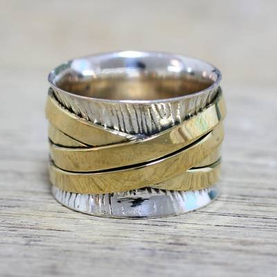 heart ring tattoo - Indian Band Ring Hand Crafted of Sterling Silver and Brass