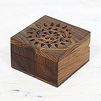 Featured review for Mango wood decorative box, Glorious Flower