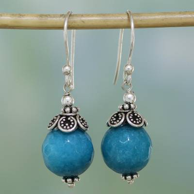 Aventurine dangle earrings, Sweet Blue Exuberance