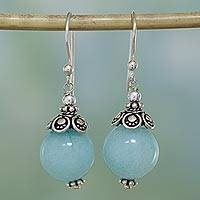 Aventurine dangle earrings, 'Aqua Delight' - Aqua Aventurine and Sterling Silver Dangle Earrings