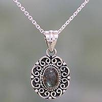 Featured review for Labradorite pendant necklace, Silver Allure