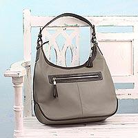 Leather hobo bag,