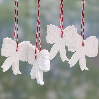 Porcelain ornaments, Festive Delight (set of 4)