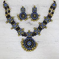 Terracotta jewelry set,
