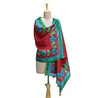 Silk shawl,