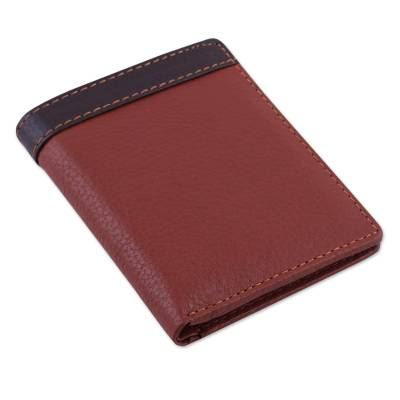 Handsome Leather Wallet for Men in Russet and Chocolate