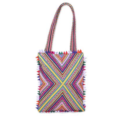 Handcrafted Rectangular Patchwork Shoulder Bag from India