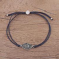 Sterling silver pendant bracelet,