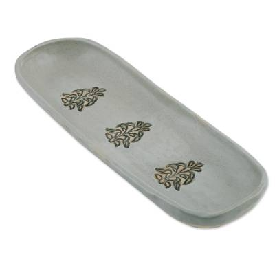 Handcrafted Ceramic Tray from India