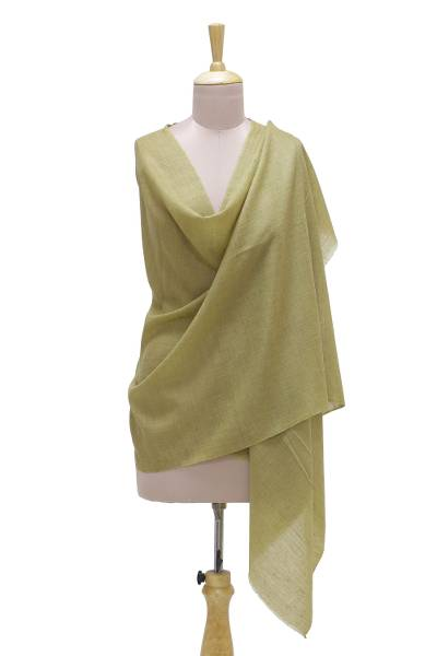 Cashmere shawl, 'Kashmir Bamboo' - Handwoven Pashmina Cashmere Wool Shawl from India