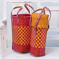 Recycled plastic bottle holders,