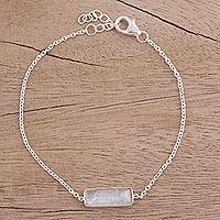 Featured review for Rainbow moonstone pendant bracelet, Elegant Prism