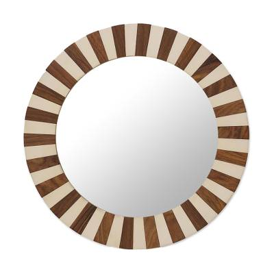 Handcrafted Circular Wall Mirror from India