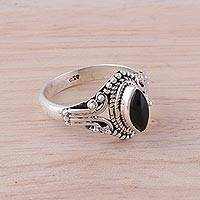 Featured review for Onyx single-stone ring, Midnight Luxury