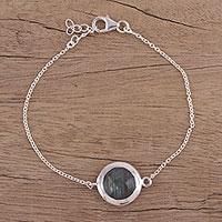 Labradorite Pendant Bracelet Circular Shine (india)