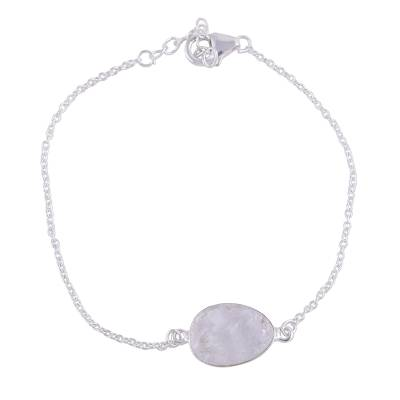 Quartz and Sterling Silver Pendant Bracelet from India