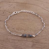 Labradorite link bracelet,