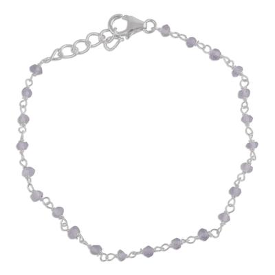 Handmade Adjustable Labradorite Link Bracelet from India