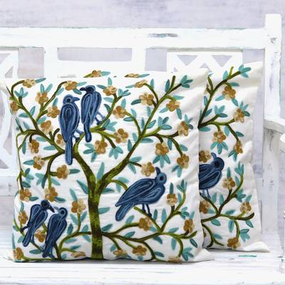 Cotton cushion covers, Natures Delight (pair)