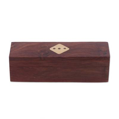 Handcrafted Wood Dice (Set of 5) from India