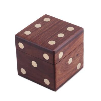 Wood Dice Set with Matching Box from India