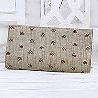 Beaded clutch, 'Wheat Desire' - Beaded Clutch Handbag in Wheat from India