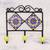 Ceramic coat rack, 'Royal Blossoms' - Painted Floral Ceramic Coat Rack in Yellow from India thumbail