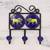Ceramic coat rack, 'Lion's Roar' - Ceramic Coat Rack Painted with Lion Motifs from India thumbail