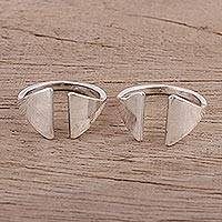 Sterling silver toe rings, 'Gateway' (pair) - Contemporary Sterling Silver Toe Rings for Women (Pair)